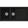 Reginox Best 475 1.5 Bowl Granite Kitchen Sink - Black profile small image view 1