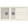 Reginox Best 475 1.5 Bowl Granite Kitchen Sink - Cream profile small image view 1