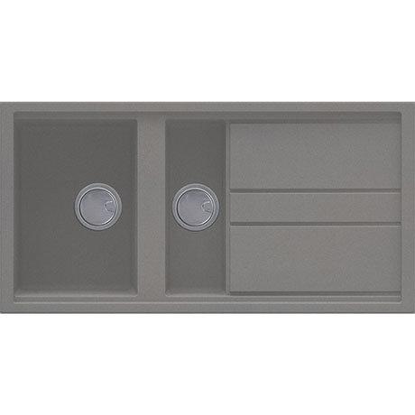 Reginox Best 475 1.5 Bowl Granite Kitchen Sink - Titanium