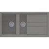 Reginox Best 475 1.5 Bowl Granite Kitchen Sink - Titanium profile small image view 1