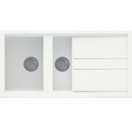Reginox Best 475 1.5 Bowl Granite Kitchen Sink - White