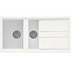 Reginox Best 475 1.5 Bowl Granite Kitchen Sink - White profile small image view 1