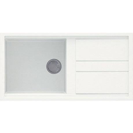 Reginox Best 480 1.0 Bowl Granite Kitchen Sink - White