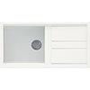 Reginox Best 480 1.0 Bowl Granite Kitchen Sink - White profile small image view 1