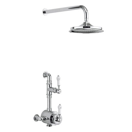 Burlington Stour Thermostatic Exposed Single Outlet Shower Valve with Fixed Shower Head