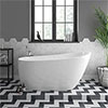 Turin 1520 Small Modern Slipper Free Standing Bath profile small image view 1