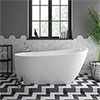 Turin 1665 Modern Slipper Free Standing Bath profile small image view 1