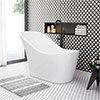 Vienna 1520 Small Modern Slipper Bath profile small image view 1