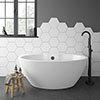 Orbit BTW Modern Free Standing Bath (1515 x 940mm) profile small image view 1