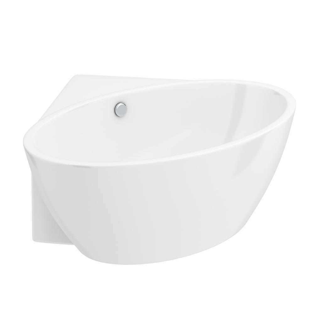 Orbit Corner Modern Free Standing Bath (1270 x 1270mm) Feature Large Image