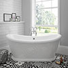 Chatsworth 1770 Double Ended Slipper Roll Top Bath profile small image view 1