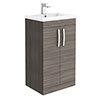 Brooklyn 500mm Grey Avola Vanity Unit - Floor Standing 2 Door Unit profile small image view 1