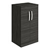 Brooklyn Floor Standing Countertop Vanity Unit - Black - 505mm with Chrome Handles profile small image view 1