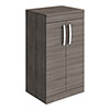 Brooklyn Floor Standing Countertop Vanity Unit - Grey Avola - 505mm with Chrome Handles profile small image view 1
