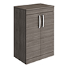 Brooklyn 605mm Grey Avola Worktop & Double Door Floor Standing Cabinet profile small image view 1