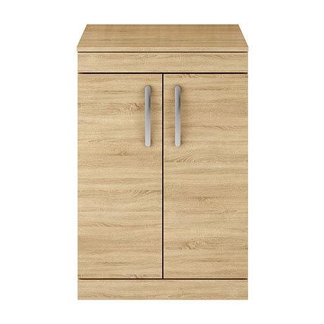 Brooklyn 605mm Oak Worktop & Double Door Floor Standing Cabinet