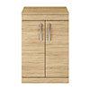 Brooklyn 605mm Natural Oak Worktop & Double Door Floor Standing Cabinet profile small image view 1