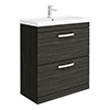 Brooklyn 800 Black Floor Standing Vanity Unit with Thin-Edge Basin profile small image view 1