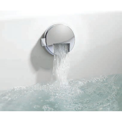 Crosswater Digital Carrera Elite Bath with Bath Filler Waste & Fixed Showerhead - 2 x Colour Options profile large image view 7
