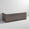Brooklyn Grey Avola Wood Effect Bath Panel Pack profile small image view 1