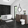 Brooklyn Grey Avola BTW Free Standing Bath Suite profile small image view 1
