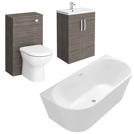 Brooklyn Grey Avola BTW Free Standing Bath Suite