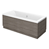 Brooklyn Grey Avola Double Ended Bath profile small image view 1