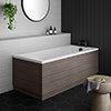Brooklyn Grey Avola Single Ended Bath profile small image view 1