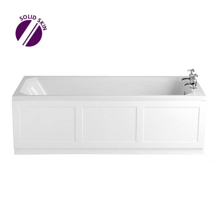 Heritage Granley Deco Single Ended 2TH Bath with Solid Skin (1700x700mm)