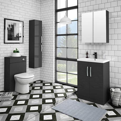 Brooklyn Gloss Grey Vanity Furniture Package