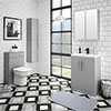 Brooklyn Grey Mist Vanity Furniture Package profile small image view 1