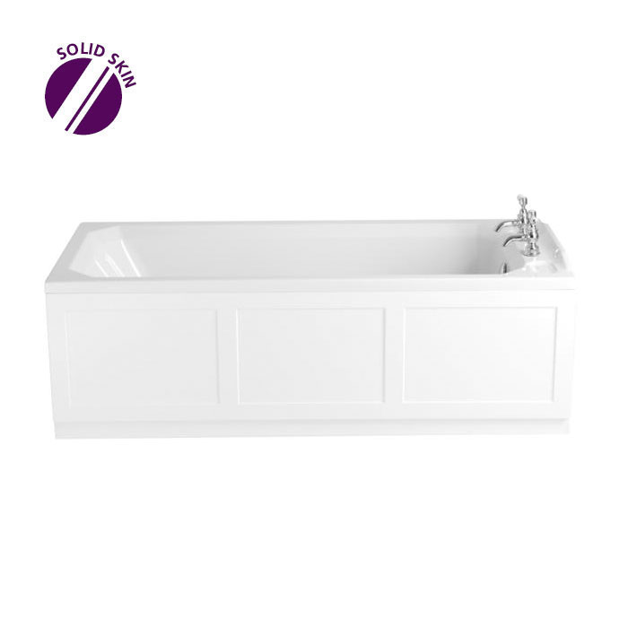 Heritage Granley Single Ended Bath with Solid Skin (1700x750mm) Large Image