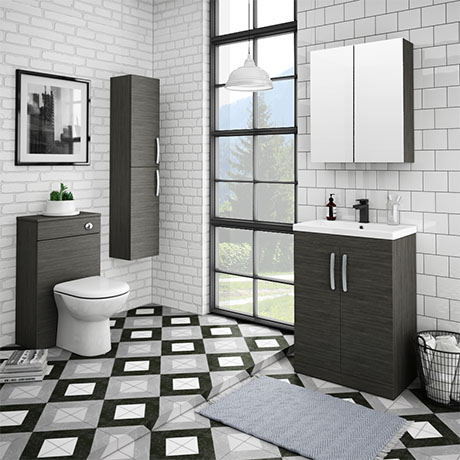 Brooklyn Hacienda Black Vanity Furniture Package