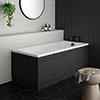 Brooklyn Hacienda Black Single Ended Bath profile small image view 1