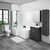 Brooklyn Hacienda Black L Shaped Bath Suite (with Vanity + Tall Cabinet) profile small image view 1