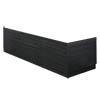 Brooklyn Black Wood Effect Bath Panel Pack profile small image view 1