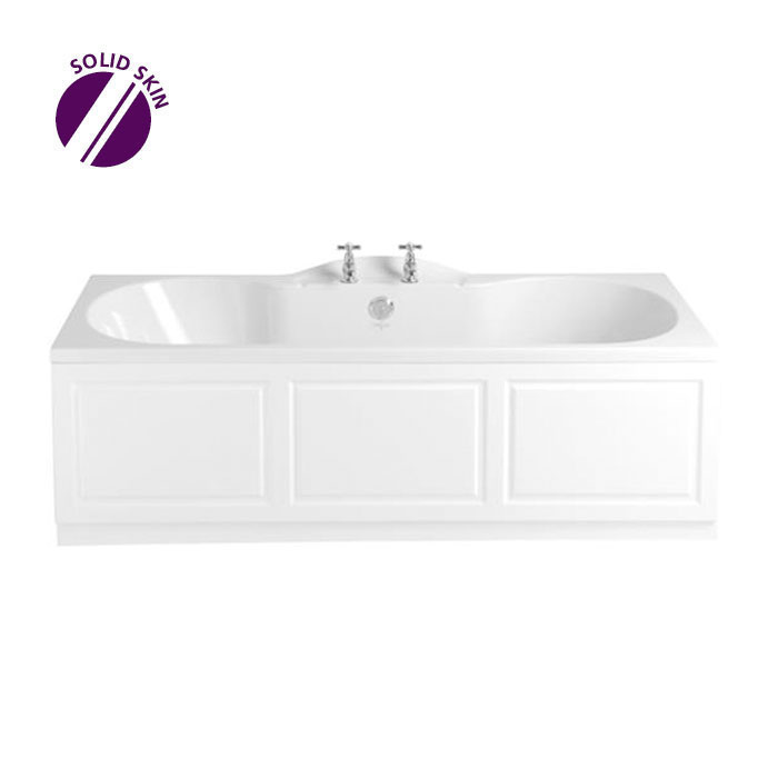 Heritage Rhyland Double Ended Bath with Solid Skin (1700x750mm) Large Image