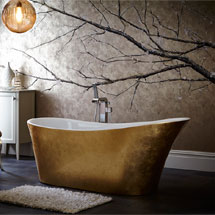 Heritage Holywell Freestanding Acrylic Bath (1710 x 745mm) - Gold Effect Medium Image