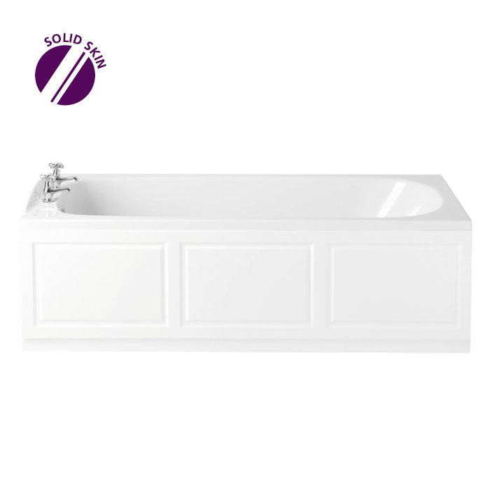 Heritage Rhyland Single Ended Bath with Solid Skin (1700x700mm) Large Image
