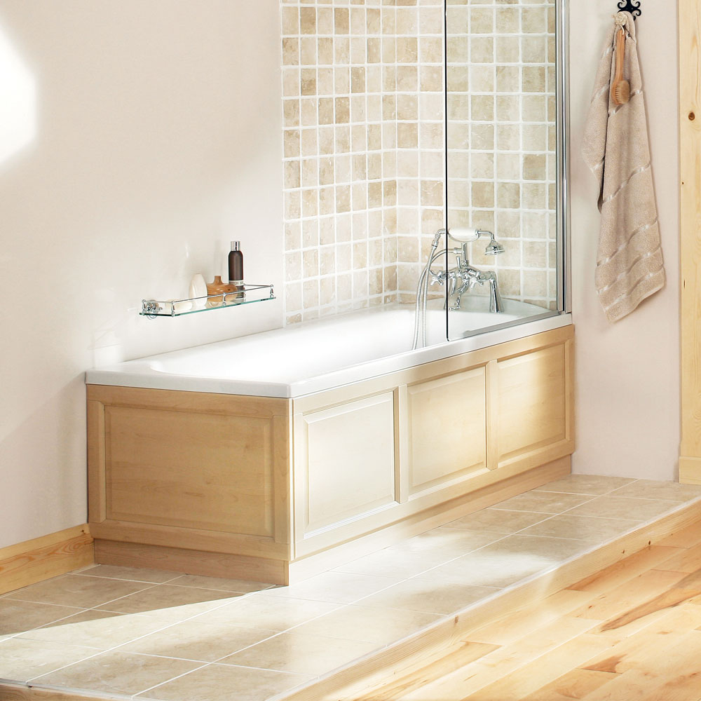 Heritage Rhyland Single Ended Bath with Solid Skin (1700x700mm) profile large image view 2