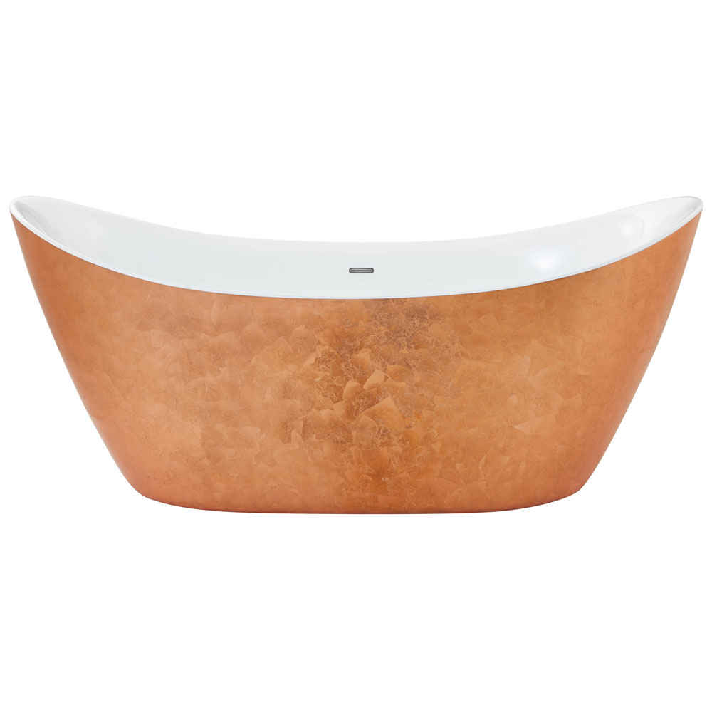 Heritage Hylton Freestanding Acrylic Bath (1730 x 730mm) - Copper Effect profile large image view 2