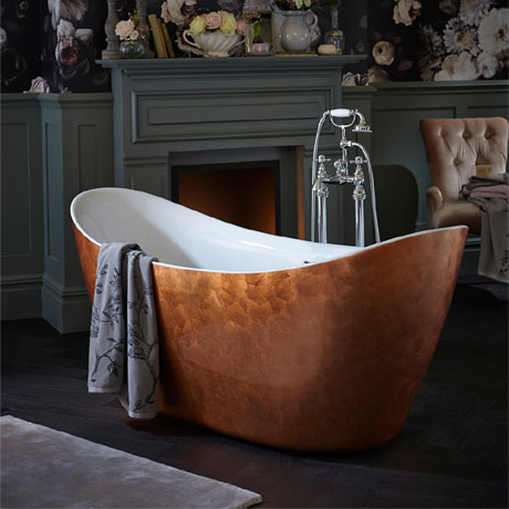 Heritage Hylton Freestanding Acrylic Bath (1730 x 730mm) - Copper Effect
