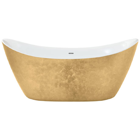 Heritage Hylton Freestanding Acrylic Bath (1730 x 730mm) - Gold Effect