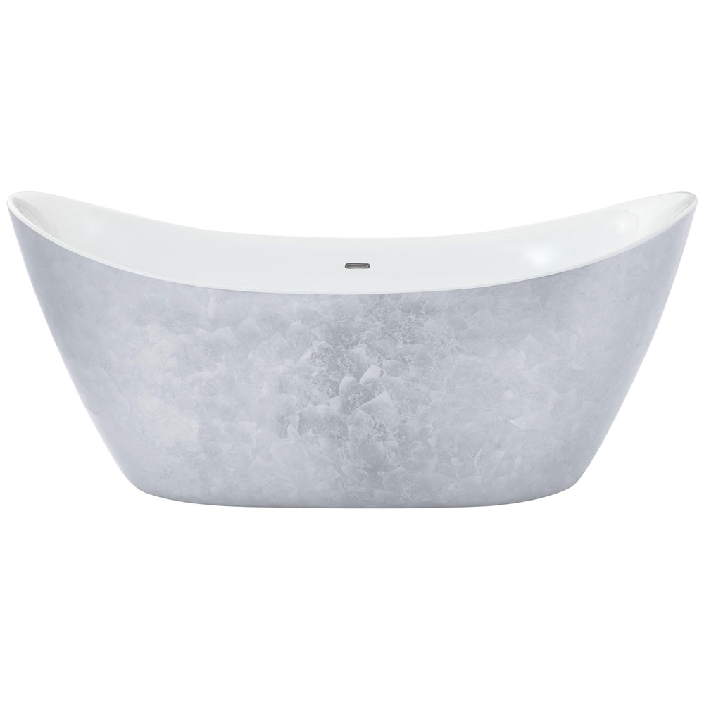 Heritage Hylton Freestanding Acrylic Bath (1730 x 730mm) - Stainless Steel Effect profile large image view 1