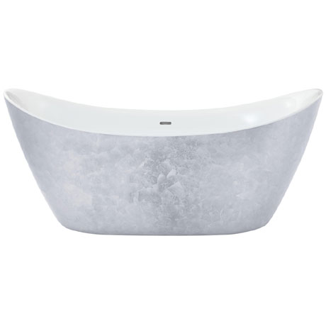 Heritage Hylton Freestanding Acrylic Bath (1730 x 730mm) - Stainless Steel Effect