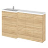 Hudson Reed 1500mm Natural Oak Combination Unit (600 Vanity + 300 Base Unit x 3) profile small image view 1