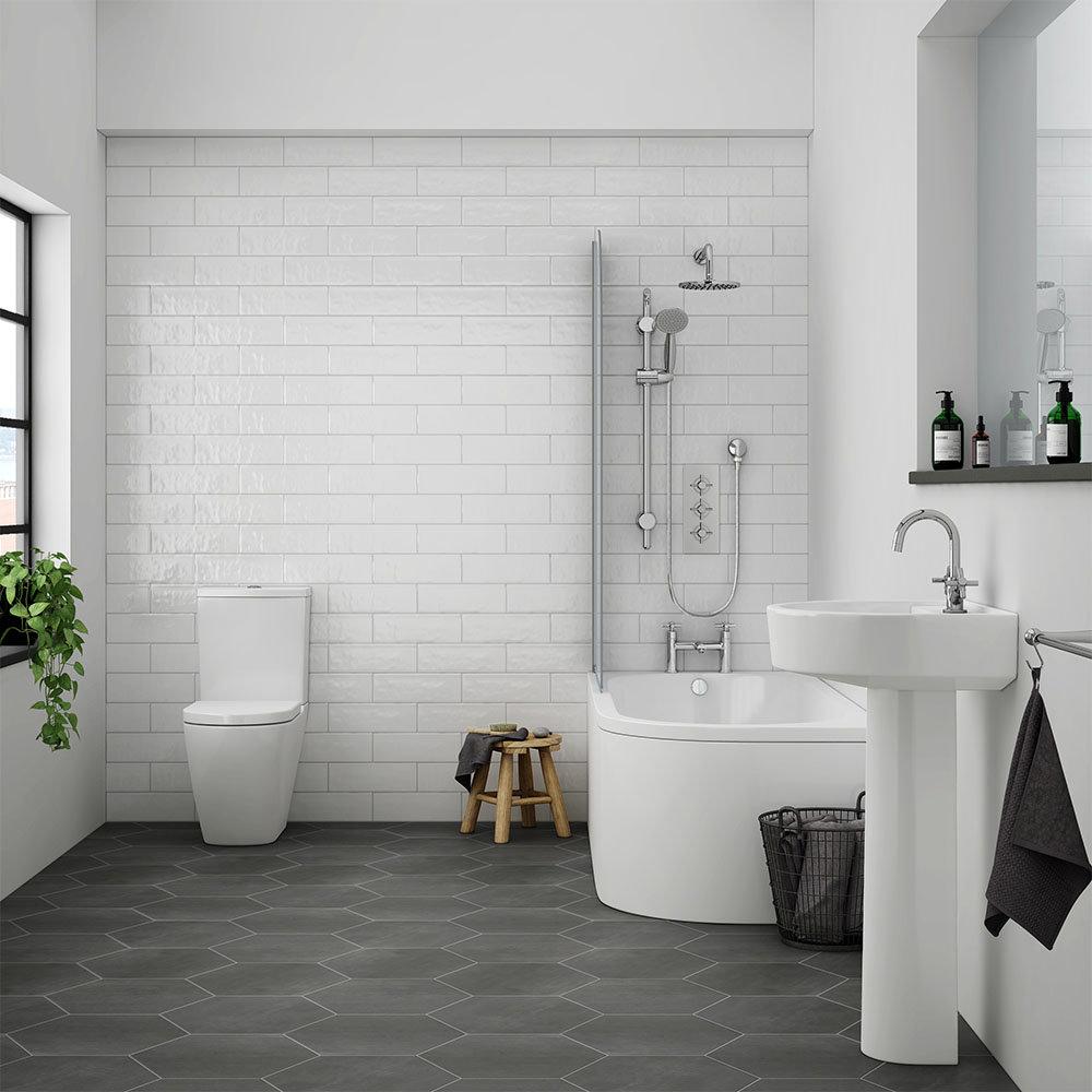 Bianco 1700mm Shower Bath Suite