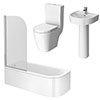 Bianco 1700mm Shower Bath Suite profile small image view 1