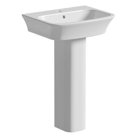 Tissino Bianca 56cm Basin + Pedestal (1 Tap Hole)