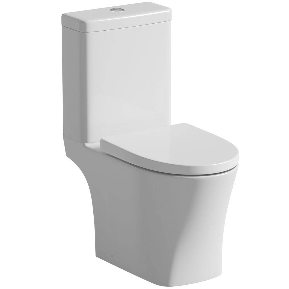 Tissino Bianca Close Coupled WC + Soft Close Seat profile large image view 1